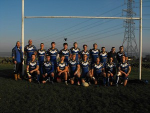 Sharlston A in their new BOOMERANGS BAR sponsored kit.